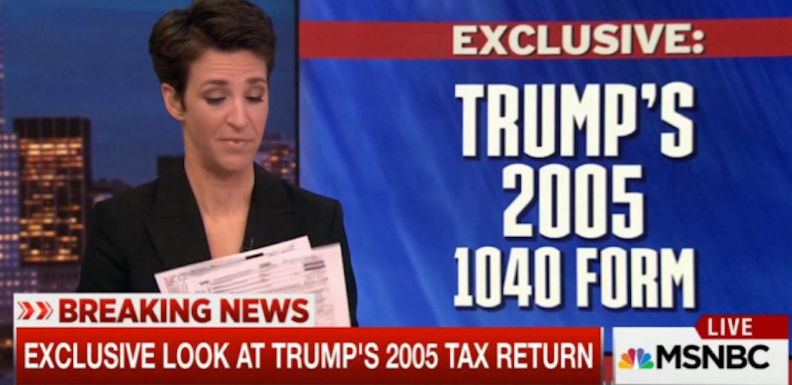 BREAKING: Trump's 2005 tax returns. Big winner, President ...