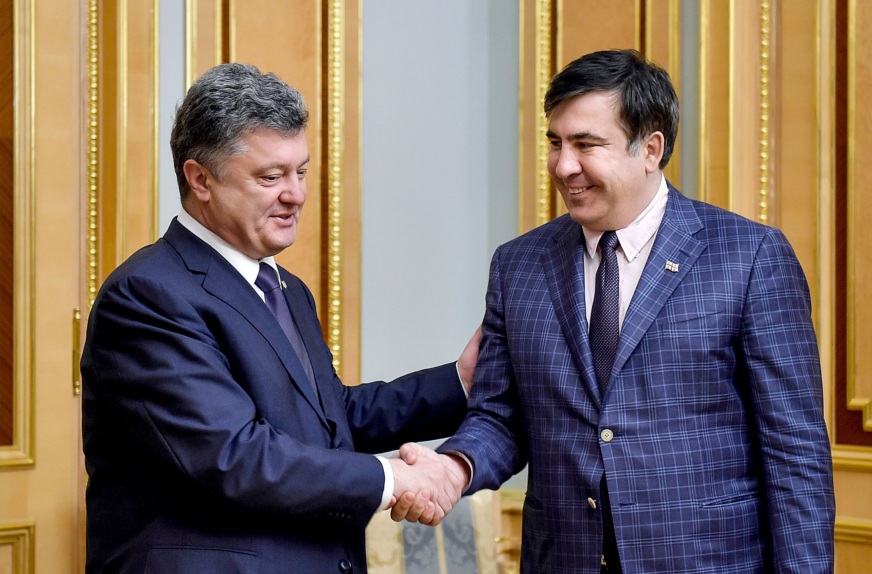 порошенко и саакашвили знакомство