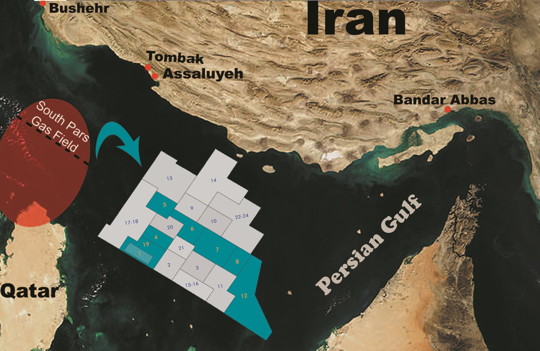 Qatar Iran A French Gas Company And One Natural Gas Field
