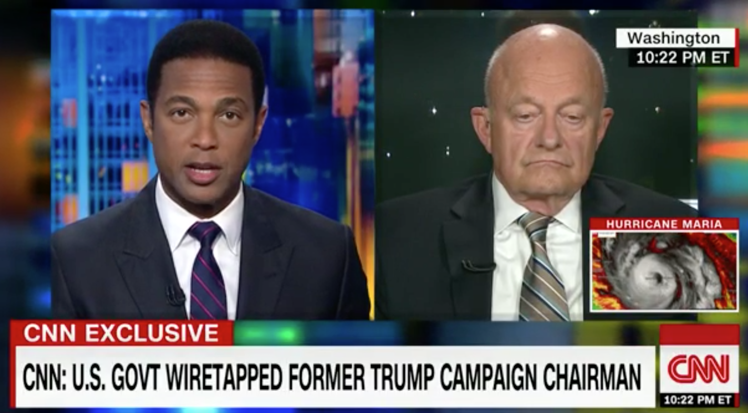 """James Clapper admits: """"It's possible' President Trump's voice recorded in Paul Manafort wiretap"""" (Video)"""